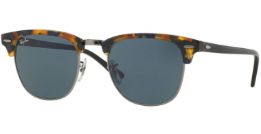 Sunglasses - Ray-Ban® - Ray-Ban® RB3016 CLUBMASTER - 1158R5 SPOTTED BLUE HAVANA // GREY