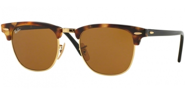 Sunglasses - Ray-Ban® - Ray-Ban® RB3016 CLUBMASTER - 1160 SPOTTED BROWN HAVANA // BROWN
