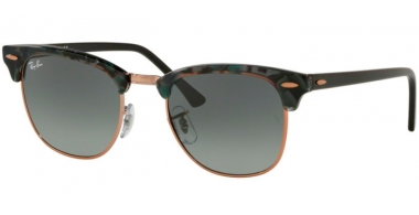 Sunglasses - Ray-Ban® - Ray-Ban® RB3016 CLUBMASTER - 125571 SPOTTED GREY GREEN // DARK GREY GRADIENT