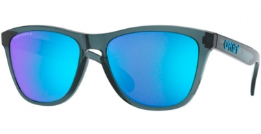 Sunglasses - Oakley - FROGSKINS OO9013 - 9013-F6 CRYSTAL BLACK // PRIZM SAPPHIRE POLARIZED