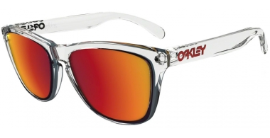 Sunglasses - Oakley - FROGSKINS OO9013 - 9013-A5 POLISHED CLEAR // TORCH IRIDIUM