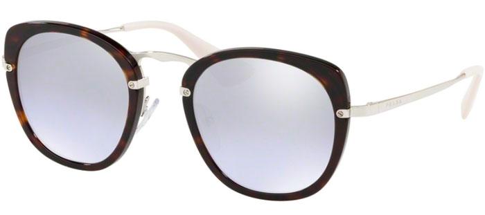 67b4a1d4576a5 Gafas de Sol - Prada - SPR 58US - 2AU210 DARK HAVANA    VIOLET MIRROR