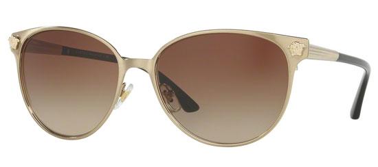 61e4297bb0 Gafas de Sol - Versace - VE2168 - 133913 BRUSHED PALE GOLD    BROWN GRADIENT