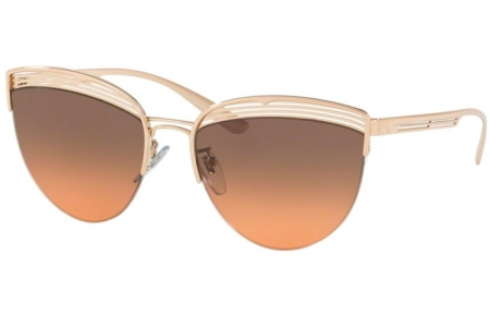 Sunglasses - Bvlgari - BV6118 - 201418 PINK GOLD // ORANGE GRADIENT LIGHT GREY