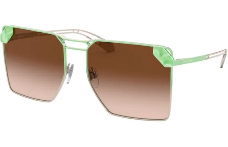 Sunglasses - Bvlgari - BV6147 - 278/13 PALE GOLD GRADIENT GREEN // BROWN GRADIENT