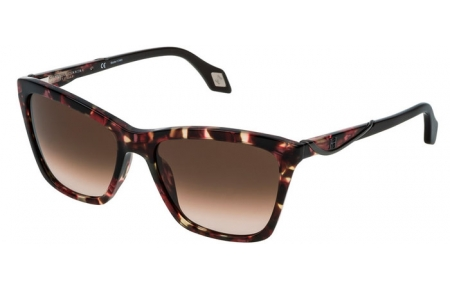 Sunglasses - Carolina Herrera New York - SHN559M - 09E7  HAVANA BURGUNDY // BROWN GRADIENT