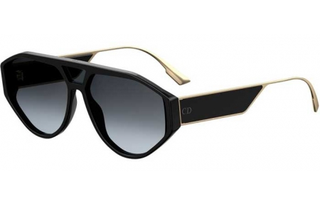 Sunglasses - Dior - DIORCLAN1 - 807 (1I) BLACK // GREY GRADIENT ANTIREFLECTION