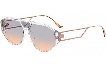 Sunglasses - Dior - DIORCLAN1 - 900 (1I) CRYSTAL // GREY GRADIENT ANTIREFLECTION