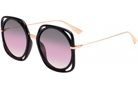Sunglasses - Dior - DIORDIRECTION - 26S (0D) BLACK GOLD COPPER // VIOLET GRADIENT ANTIREFLECTION