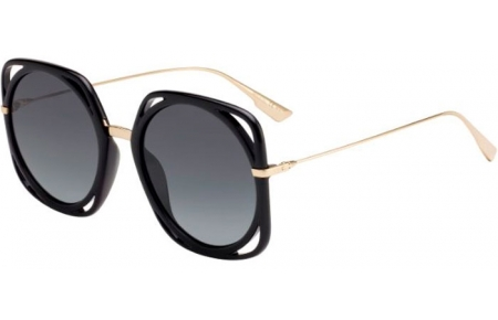 Lunettes de soleil - Dior - DIORDIRECTION - 2M2 (1I) BLACK GOLD // GREY GRADIENT ANTIREFLECTION