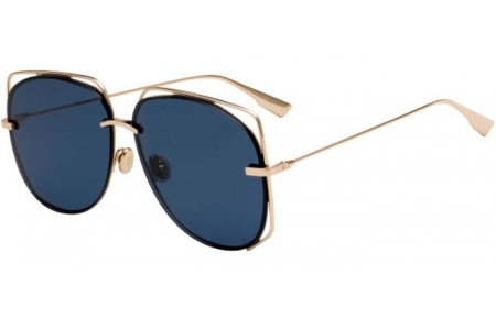 Sunglasses - Dior - DIORSTELLAIRE6 - J5G (A9) GOLD // BLUE GREY ANITREFLECTION