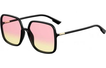 Sunglasses - Dior - SOSTELLAIRE1 - 807 (VC) BLACK // PINK ANTIREFLECTION