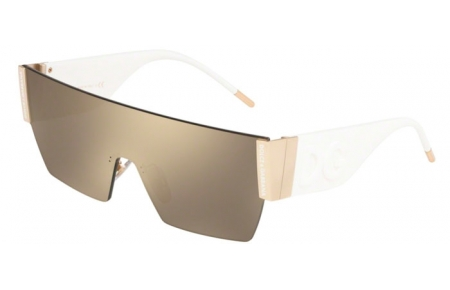 Sunglasses - Dolce & Gabbana - DG2233 - 488/5A PALE GOLD // LIGHT BROWN GOLD MIRROR