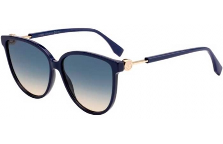 Sunglasses - Fendi - FF 0345/S - PJP (I4) BLUE // BLUE GRADIENT PEACH