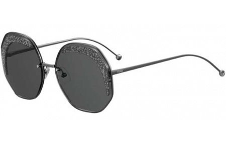 Sunglasses - Fendi - FF 0358/S - KB7 (IR) DARK RUTHENIUM // GREY