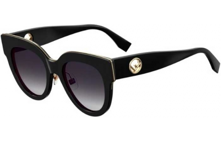 Sunglasses - Fendi - FF 0360/G/S - 807 (9O) BLACK // DARK GREY GRADIENT