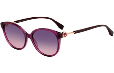Sunglasses - Fendi - FF 0373/S - 0T7 (O9) TRANSPARENT PLUM // PLUM GRADIENT