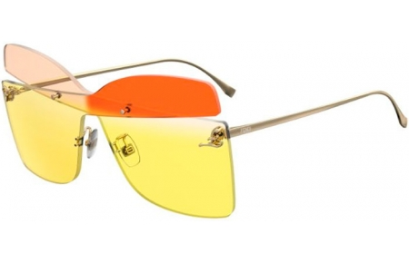 Sunglasses - Fendi - FF 0399/S - 6R2 (06) PINK HORN // YELLOW GRADIENT