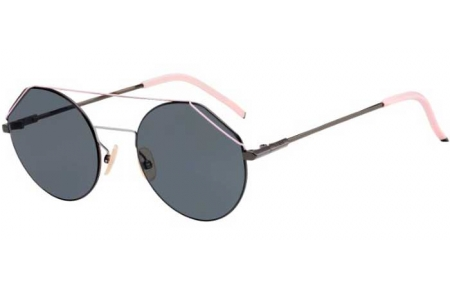 Sunglasses - Fendi - FF M0042/S - V81 (IR) DARK RUTHENIUM BLACK // GREY