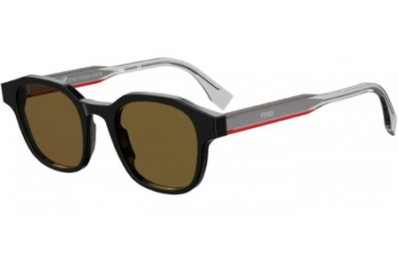 Sunglasses - Fendi - FF M0070/S - 807 (70) BLACK // BROWN