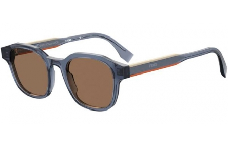 Sunglasses - Fendi - FF M0070/S - PJP (70) BLUE // BROWN