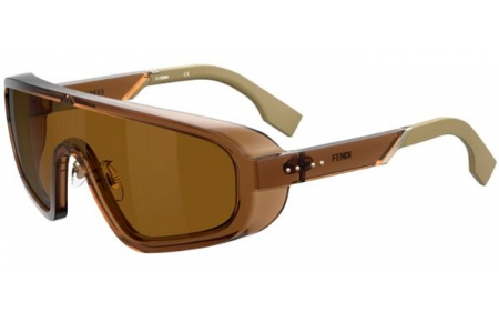 Sunglasses - Fendi - FF M0084/S - 09Q (7Y) BROWN // GOLD DECORED