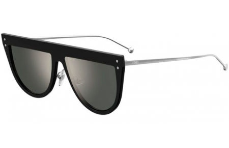 Sunglasses - Fendi - FF 0372/S - 807 (T4) BLACK // SILVER MIRROR