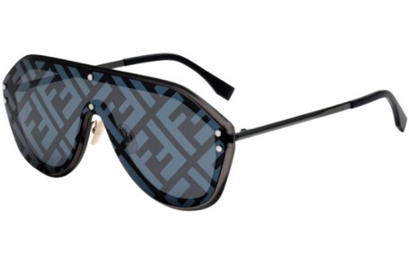 Sunglasses - Fendi - FF M0039/G/S - V81 (MD) DARK RUTHENIIUM BLACK // GREY DECORED