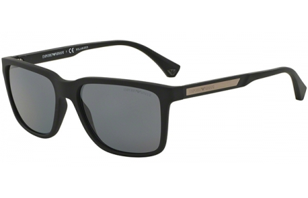 d3d8b1f0ad Gafas de Sol - Emporio Armani - EA4047 - 506381 BLACK RUBBER // GREY  POLARIZED