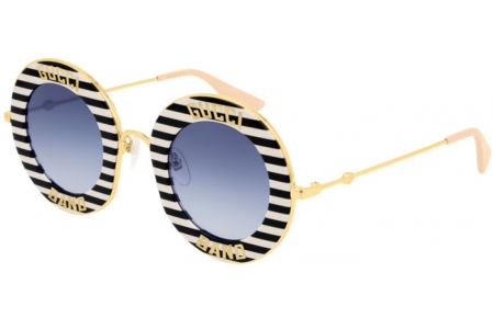 Sunglasses - Gucci - GG0113S - 008 BLACK MULTICOLOR // BLUE GRADIENT