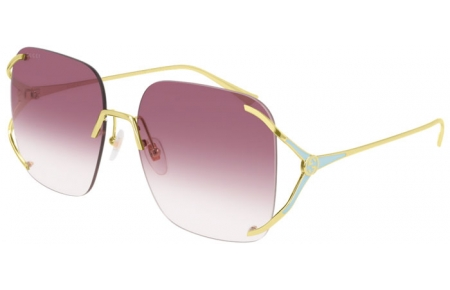 Sunglasses - Gucci - GG0646S - 003 GOLD // VIOLET GRADIENT