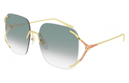 Sunglasses - Gucci - GG0646S - 004 GOLD // GREEN GRADIENT