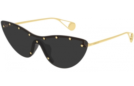 Sunglasses - Gucci - GG0666S - 001 GOLD // GREY