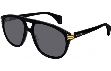 Sunglasses - Gucci - GG0525S - 002 BLACK // GREY POLARIZED