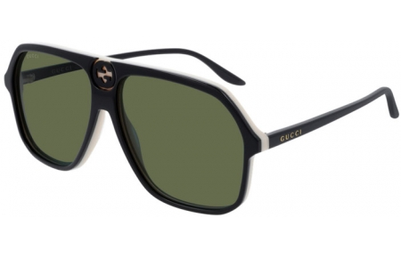 Sunglasses - Gucci - GG0734S - 004 BLACK // GREEN