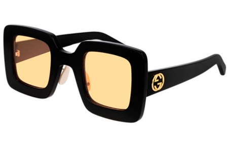 Sunglasses - Gucci - GG0780S - 006 BLACK // YELLOW