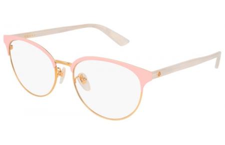 0da155a74e Monturas - Gucci - GG0249OA - 003 GOLD PINK WHITE