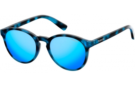 Frames Junior - Polaroid Junior - PLD 8024/S - JBW (5X) BLUE HAVANA // GREY BLUE MIRROR POLARIZED