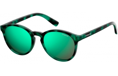 Frames Junior - Polaroid Junior - PLD 8024/S - PHW (5Z) HAVANA GREEN // GREY MULTILAYER GREEN POLARIZED