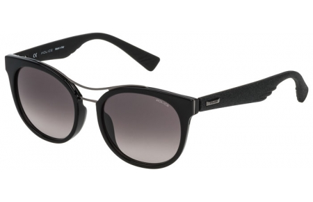 Sunglasses - Police - SPL412 SPARKLE 3 - 0700 SHINY BLACK // GREY GRADIENT