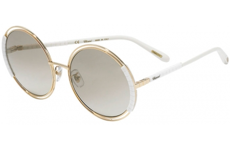 Sunglasses - Chopard - SCHC79 - 300X  SHINY ROSE GOLD WHITE // BROWN GRADIENT BRONZE MIRROR ANTIREFLECTION
