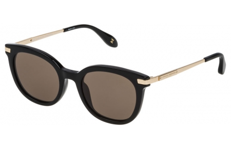 Sunglasses - Carolina Herrera New York - SHN570M - 0700 SHINY BLACK // BROWN