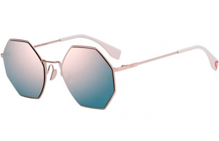 Gafas de Sol - Fendi - FF 0292/S - 35J (0J)  PINK // GREY ROSE GOLD MIRROR