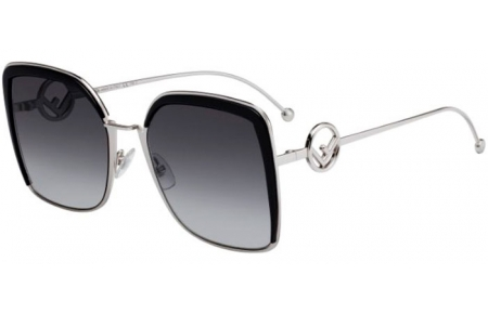 Sunglasses - Fendi - FF 0294/S - 807 (9O)  BLACK // DARK GREY GRADIENT