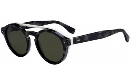 Sunglasses - Fendi - FF M0017/S - WR7 (QT)  BLACK HAVANA // GREEN