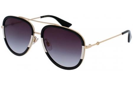 baa6785ab Gafas de Sol - Gucci - GG0062S - 006 BLACK WHITE GOLD // GREY GRADIENT