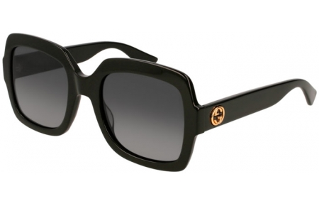 Sunglasses - Gucci - GG0036S - 011 BLACK // GREY GRADIENT POLARIZED