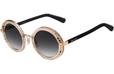 Gafas de Sol - Jimmy Choo - GEM/S - 1FN (9O) CRYSTAL GOLD BLACK // DARK GREY GRADIENT