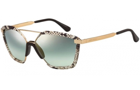 Sunglasses - Jimmy Choo - LEON/S - 09Q (EZ)  BROWN // GREEN GUNMETAL FLASH GRADIENT