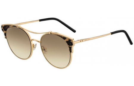 Gafas de Sol - Jimmy Choo - LUE/S - XMG (86) GOLD BLACK ANIMAL // BLACK BROWN GREEN GRADIENT ANTIREFLECTION